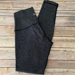 Lululemon High Times Herringbone Black Yoga Pants